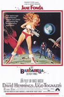 Barbarella On the Moon Wall Poster