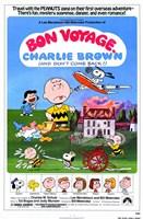 """Bon Voyage Charlie Brown - 11"""" x 17"""""""
