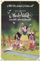 Snow White and the Seven Dwarfs with Apple Wall Poster