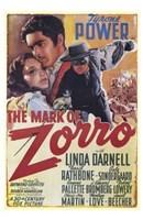 The Mark of Zorro Linda Darnell Framed Print