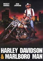 Harley Davidson and Marlboro Man Framed Print