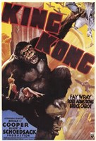 King Kong Grabbing Airplane Fine Art Print