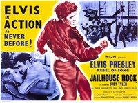 "Jailhouse Rock Elvis in Action as Never Before - 17"" x 11"""
