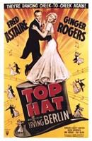 "Top Hat - dancing cheek to cheek - 11"" x 17"""