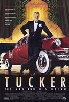 "Tucker the Man and His Dream Classic Red Car - 11"" x 17"""