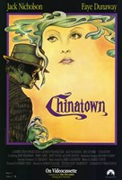 Chinatown Art Deco Film Poster Wall Poster
