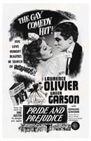 "Pride and Prejudice Laurence Olivier - 11"" x 17"""