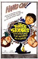 """Three Stooges Go Around the World in a D - 11"""" x 17"""", FulcrumGallery.com brand"""