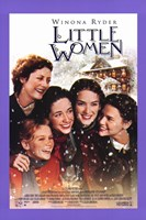 Little Women - purple frame Framed Print
