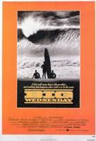 """Big Wednesday Surfing Orange - 11"""" x 17"""""""