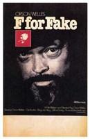 """F for Fake - 11"""" x 17"""", FulcrumGallery.com brand"""