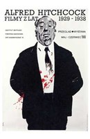 "Alfred Hitchcock Film Festival - 11"" x 17"""