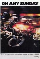 "on Any Sunday - bike racing - 11"" x 17"""