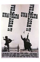 Once Upon a Time in the West BW Spanish Wall Poster