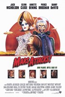 "Mars Attacks Movie - 11"" x 17"", FulcrumGallery.com brand"