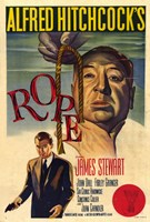 """Rope - Alfred Hitchcock's - 11"""" x 17"""""""