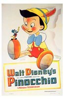 """Pinocchio with Jiminy Cricket - 11"""" x 17"""""""