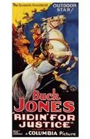 "Ridin' for Justice Cowboy Horseback - 11"" x 17"", FulcrumGallery.com brand"