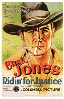 Ridin' for Justice Smoking Cowboy Wall Poster