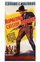 """Hopalong Cassidy Returns - 11"""" x 17"""""""