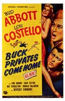 Abbott and Costello, Buck Privates Come Home, c.1947 Wall Poster