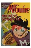 "Mickey's Stampede - 11"" x 17"", FulcrumGallery.com brand"