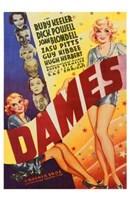 """Dames - 11"""" x 17"""", FulcrumGallery.com brand"""