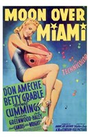 """Moon Over Miami - 11"""" x 17"""""""