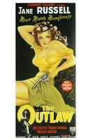 """The Outlaw Jane Russell - 11"""" x 17"""", FulcrumGallery.com brand"""