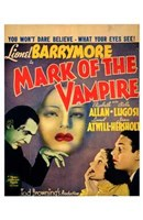 "Mark of the Vampire - You won't dare believe - 11"" x 17"" - $15.49"