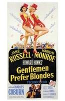 """Gentlemen Prefer Blondes - style C, 1953, 1953 - 11"""" x 17"""""""