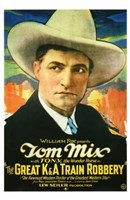 """Great K a Train Robbery With Tom Mix - 11"""" x 17"""""""