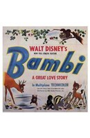 Bambi Square Wall Poster