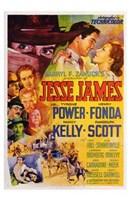 "Jesse James Movie Collage - 11"" x 17"""
