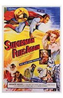 Superman Flies Again Wall Poster