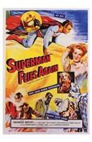 Superman Flies Again Wall Poster