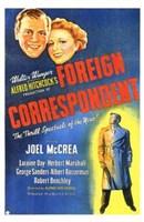 "Foreign Correspondent - Joel McCrea - 11"" x 17"""