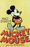 Walt Disney's Mickey Mouse Wall Poster