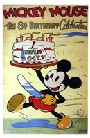 Mickey Mouse in His 8Th Birthday Celebra Fine Art Print