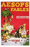 """Aesop's Fables - red - 11"""" x 17"""" - $15.49"""