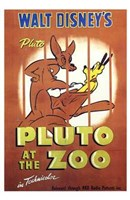 Pluto At the Zoo Wall Poster