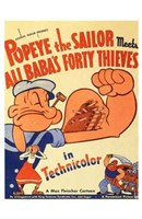 Popeye the Sailor Meets Ali Baba and the Wall Poster