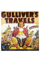 """Gulliver's Travels - man tied up - 11"""" x 17"""""""