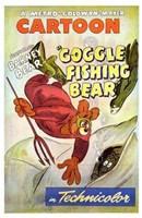 """Goggle Fishing Bear - 11"""" x 17"""""""