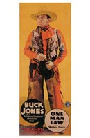 "One Man Law Buck Jones - 11"" x 17"" - $15.49"