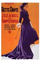 Jezebel - purple dress Wall Poster