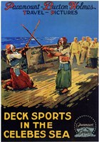 """Deck Sports in the Celebes Sea - 11"""" x 17"""""""