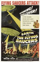 Earth Vs the Flying Saucers Marlowe Wall Poster