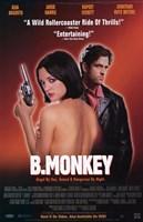 B Monkey Wall Poster