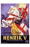 """Henry V Lawrence Olivier - 11"""" x 17"""""""